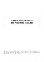 Charte du relogement des personnes evacuées